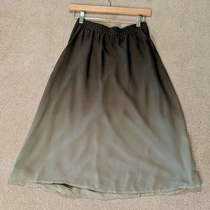 Olive Ombré Skirt